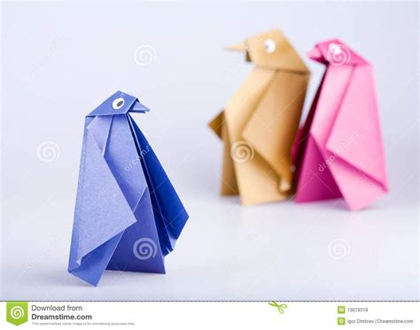 Folded Paper Figures - origami royalty free stock photos image 13079318