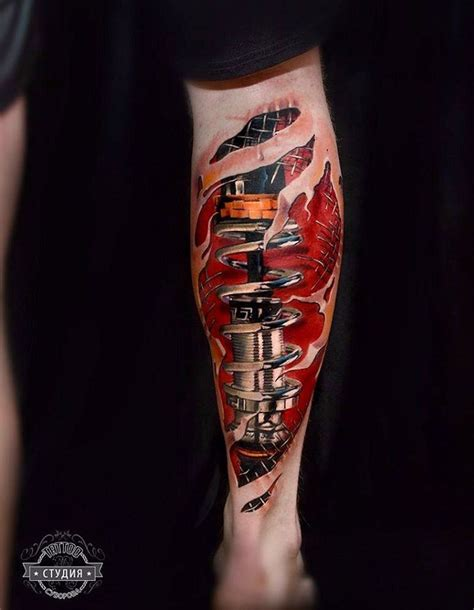 biomechanical leg best tattoo design ideas