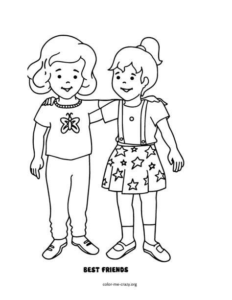 Colormecrazy Org Best Friends Forever Coloring Pages For Free