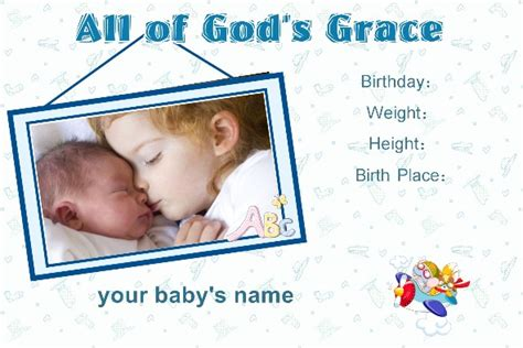 baby birth announcements templates for free free photo templates baby birth announcement