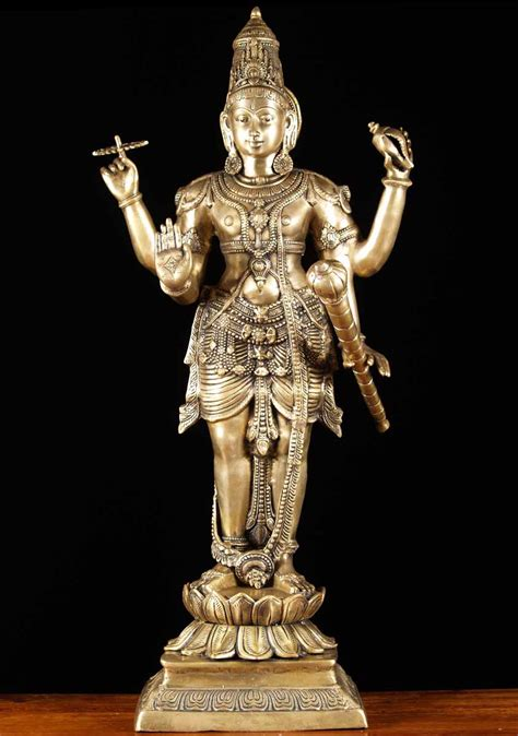 god statue sold brass hindu god vishnu statue 42 quot 65bs20 hindu
