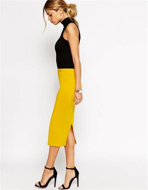 25 best ideas about yellow pencil skirt on
