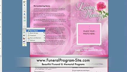 funeral program business software