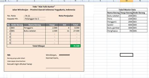 deffenes lab contoh aplikasi sederhana nota penjualan barang