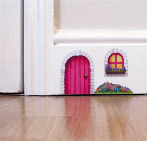 window wall stickers pink cottage door wall sticker decal including window