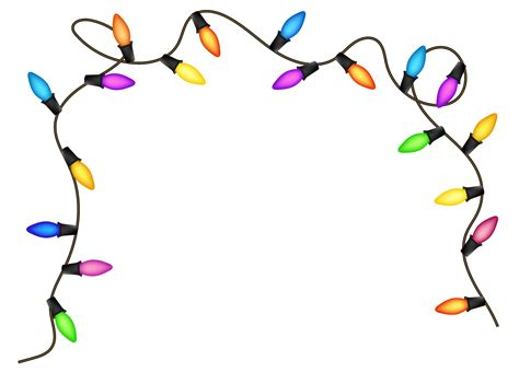 free christmas light png lights clipart images inspirationseek