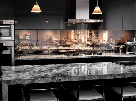 glass design for kitchen 17 best ideas about printed glass splashbacks on
