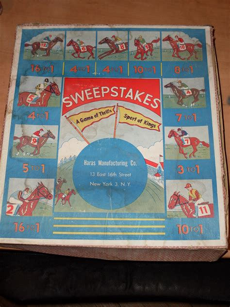 Horse Sweepstakes - haras manufacturing sweepstakes horse racing game collectors weekly