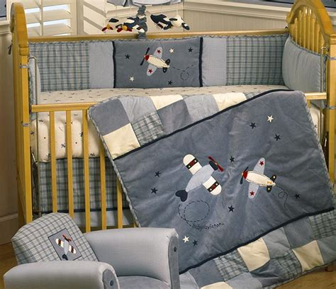 aviator crib bedding baby aviator 6 piece crib set
