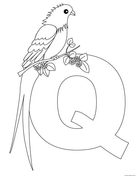 printable alphabet letters for preschoolers letter QFree