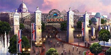 theme park hotel uk paramount london to be built by 2021 daily mail online