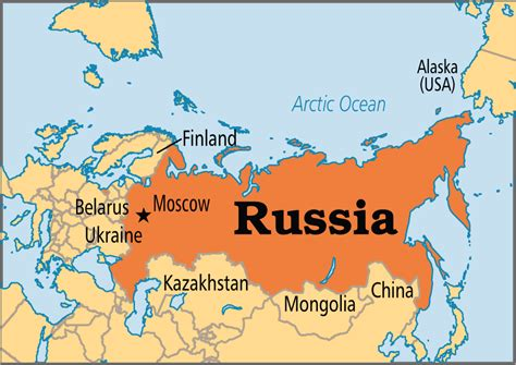 russia on map russia operation world