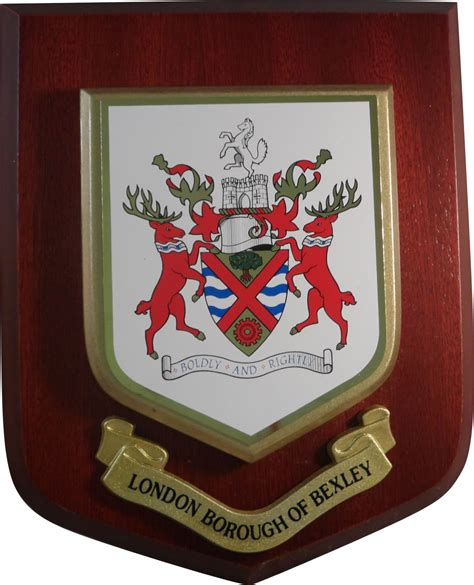 Handcrafted Plaques - personalised wooden plaques heraldic shields