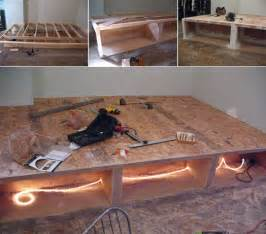 How To Build A King Size Bed Base Diy Bett Mit Stauraum