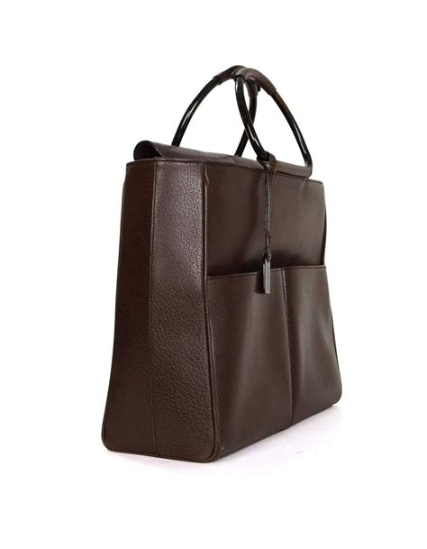 gucci brown leather tote bag bhw at 1stdibs