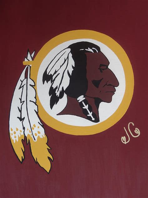 redskins painting by
