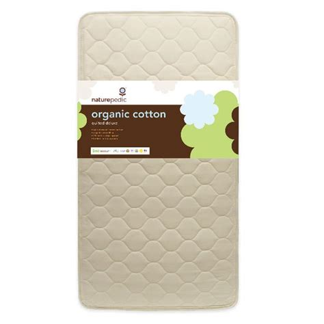 naturepedic no compromise organic crib mattress naturepedic organic quilted deluxe 252 crib mattress