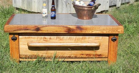 outdoor bench with cooler wine idea box by lisa hometalk