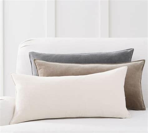 how to make a lumbar pillow washed velvet zip lumbar pillow cover pottery barn
