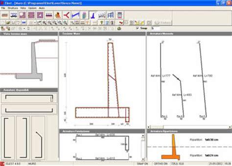 muro di sostegno a mensola elest software calcolo di strutture edili muro