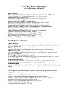 Sample Research Project Report Best Photos Of Senior Research Paper Outline Project