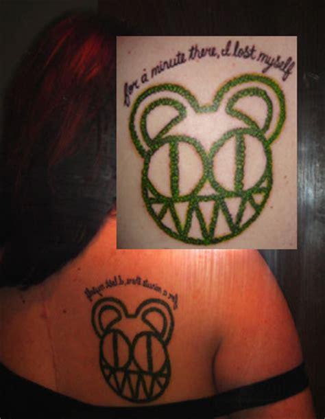 karma tattoo lyrics radiohead scary bear tattoo by bendtosquaresx on deviantart