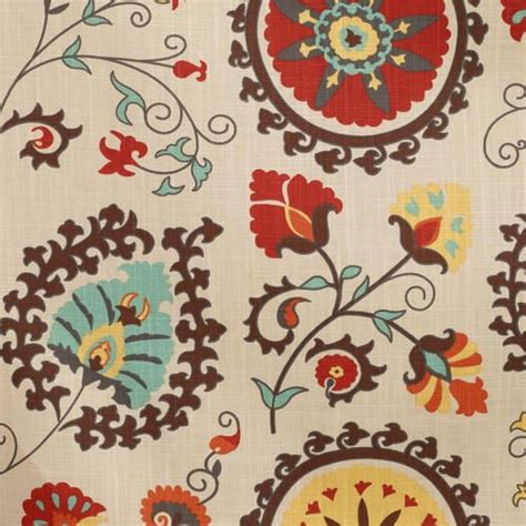world market suzani curtains gold and red suzani cotton curtains set of 2 colors