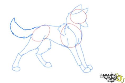 anime wolf drawings easy how to draw anime wolves drawingnow