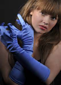 Rock And Roll Decorations Victorian Ladies Royal Blue Satin Long Gloves 3428e Blue
