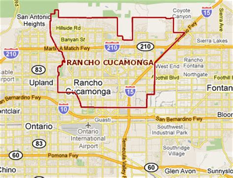 california map rancho cucamonga real estate rancho cucamonga