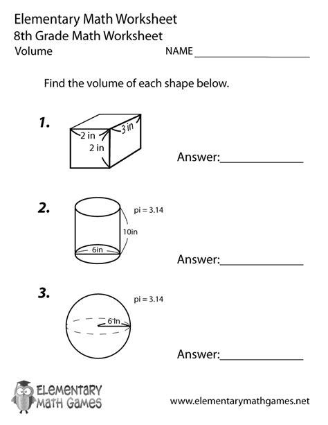 printable volume games volume worksheet volume of cylinders cones and spheres