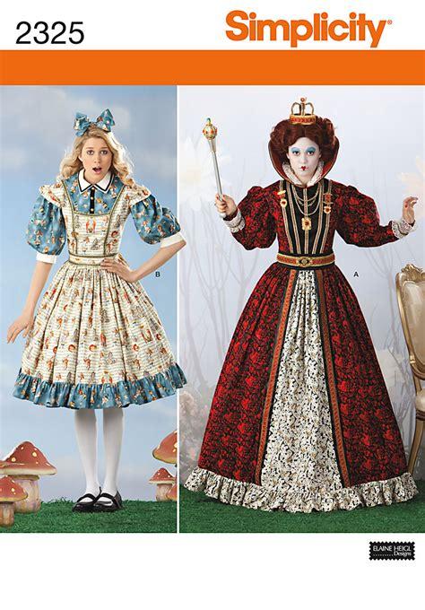 Design My Kitchen Online by Simplicity 2325 Misses Alice In Wonderland Costumes