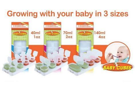 Baby Cubes 4 X 140ml Wadah Mpasi Puree Kaldu Frozen 35 baby cubes tempat penyimpanan mpasi makanan bayi rekomended