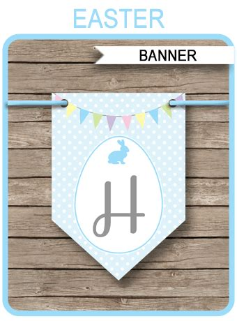easter bunting template happy easter banner editable text