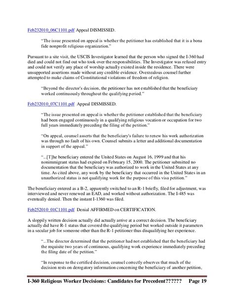 Withdrawal Letter To Immigration Special Immigrant Religious Workers Aao Decisions 2010 6