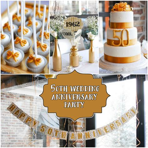 anniversary party ideas silver  gold