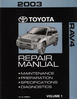 auto repair manual online 2003 toyota rav4 instrument cluster 2003 toyota rav4 factory repair manual 2 volume set