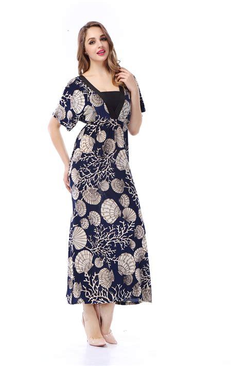 Grosir Baju Maxy Dress D summer style maxi dress 2015 new fashion dresses print v neck casual vintage