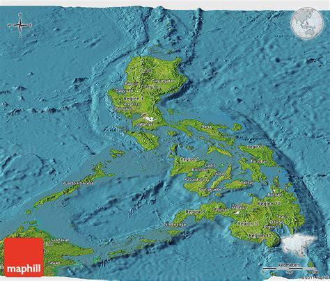 map philippines satellite satellite panoramic map of philippines