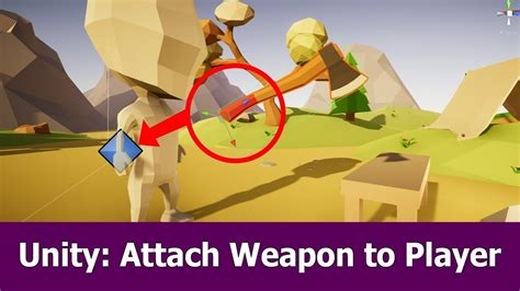 unity tutorial weapon unity inventory attach weapon to player s hand youtube