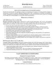 Resume Sles For Call Center by Call Center Customer Service Representative Resume Ilivearticles Info