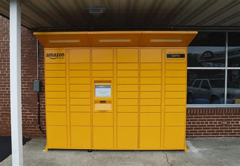 amazon locker yellow amazon lockers reach racine money journaltimes com