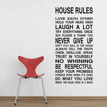 house rules art words graphics pvc wall sticker wallpaper house rules art words graphics pvc wall sticker wallpaper