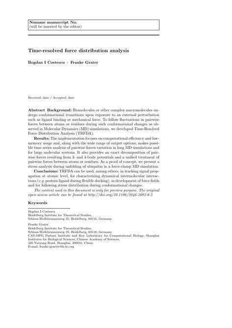 Springer International Journal Of Civil Engineering Template Springer Journal Template