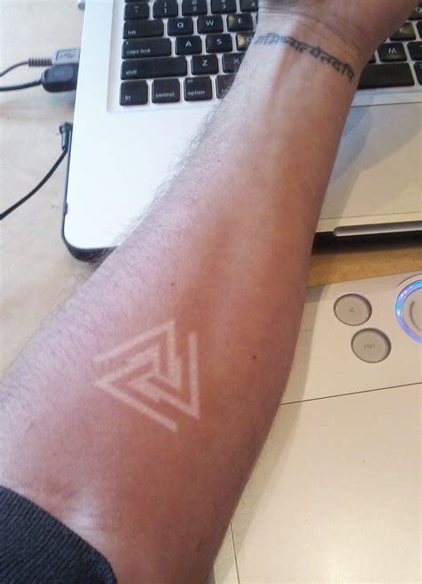 valknut tattoo white ink tattoos designs ideas and meaning tattoos for you