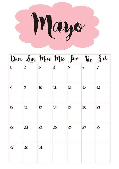 Calendario M Ayo Calendario 5 Mayo Calendario 2016