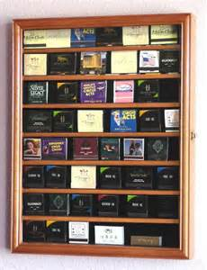 Book Display Cabinet Matchbook Display Case 48 Books Curio Cabinets