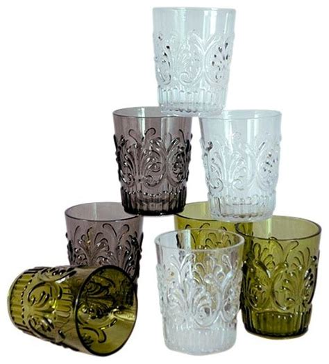 polycarbonate barware polycarbonate acrylic tumblers set of 4 transitional