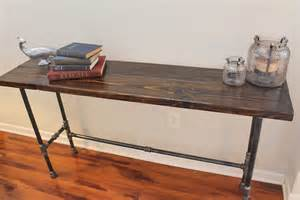 bar console steel and pine wood console bar table