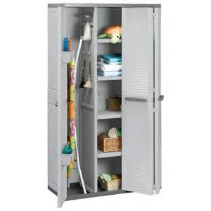 armoire haute utilitaire 3 portes ivoire 224283 achat